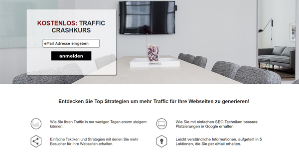 Traffic Crash-Kurs Landingpage