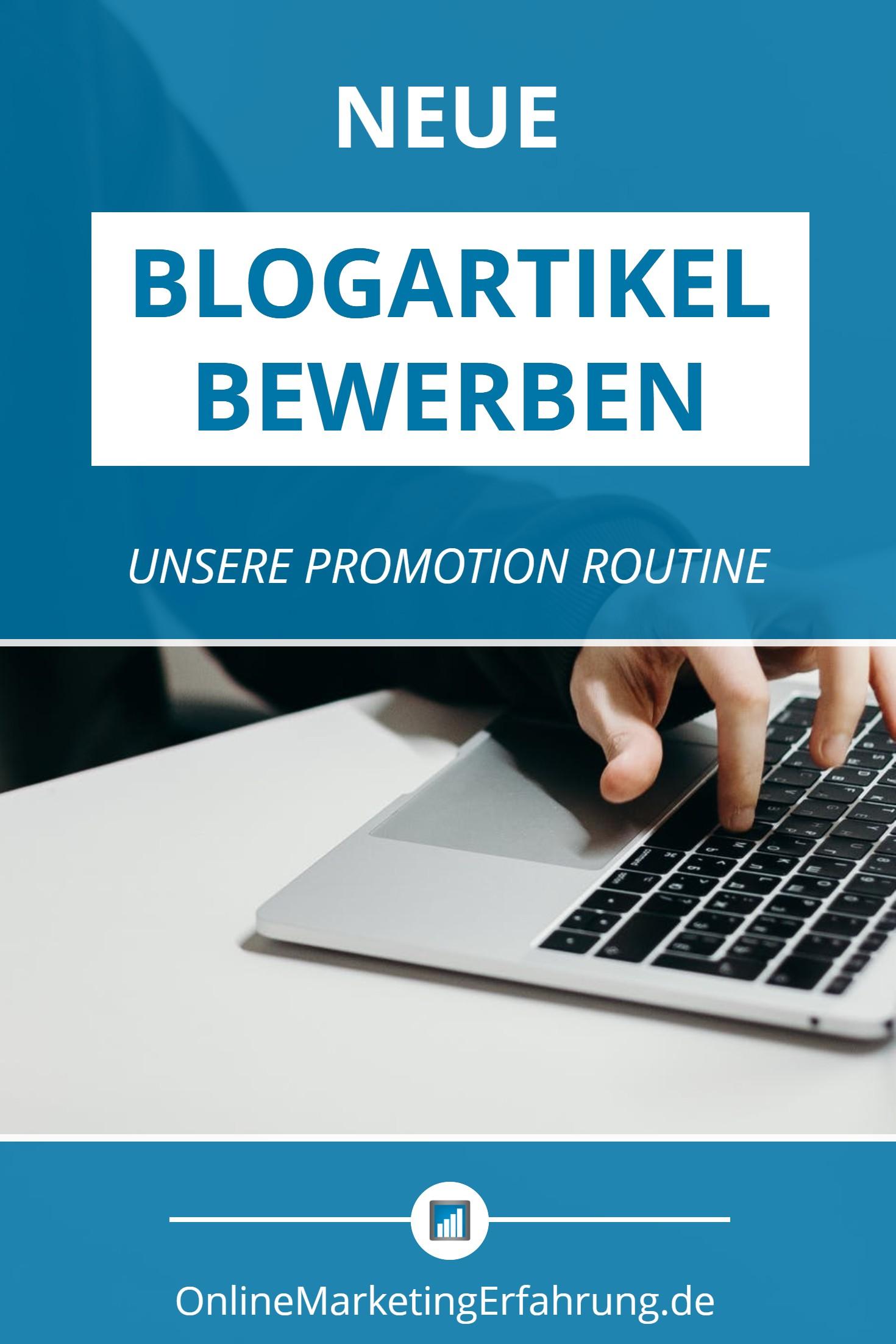 wie wir neue blogartikel bewerben