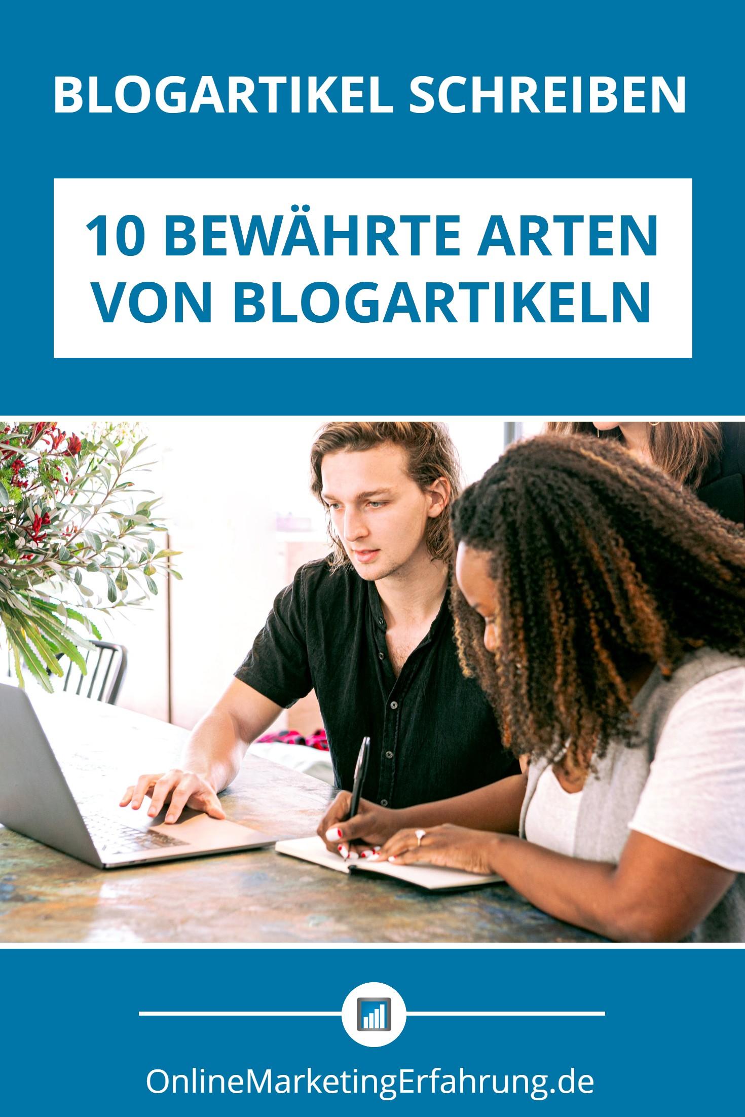 Arten von Blogartikeln