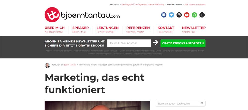 Björn Tantau Blog