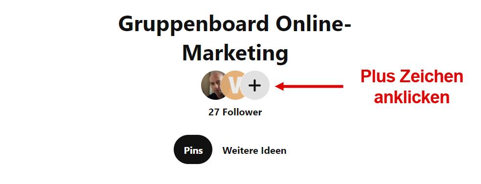 Pinterest Gruppenboard erstellen