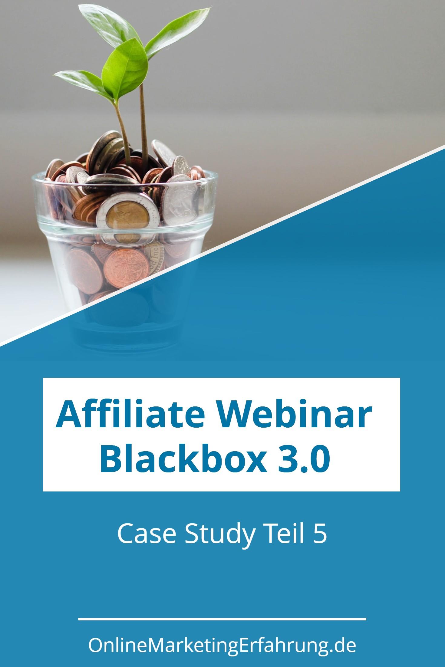 Affiliate Webinar Blackbox 3.0 Einnahmen